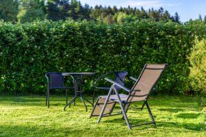 Przestrzeń do rekreacji i wypoczynku w ogrodzie